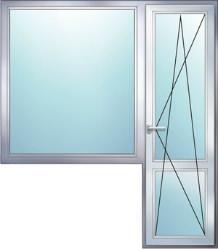 балконный блок с широким окном