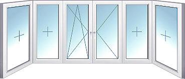 ПВХ (П-образный балкон)